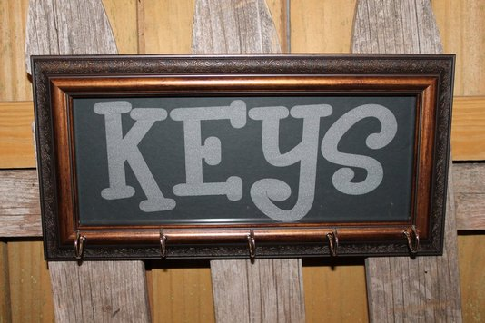 engraved glass key holder